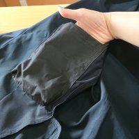 ジャケットの内ポケットを取り付けた写真