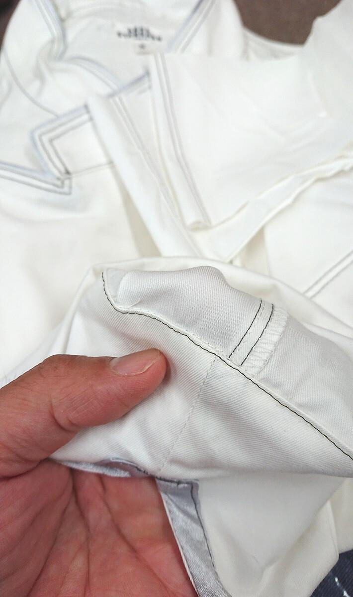 袖丈直したしたカフス部分の内側の縫製部分