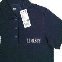 サッシ工事・アルサス様の刺繍入りユニクロポロシャツ