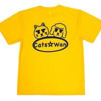 犬猫里親探しキャッツワン様のロゴプリント入りTシャツ
