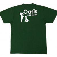 ドッグサロン・オアシス様のロゴプリント入りTシャツ